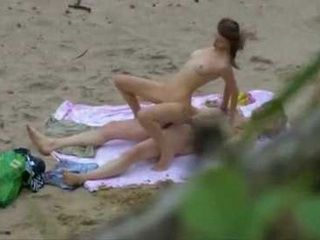 Voyeur Has Busy Day On The Beach Taping Horny Couple Fucking