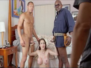 Hubby Busted Cheating Wife Getting Stuffed By 2 BBC