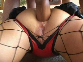Slave Girl In Net Stockings Gets Rough Anal Fuck