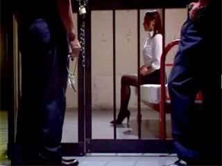 Two Dirty Cops Violating Wrongly Accused Girl In A Prison