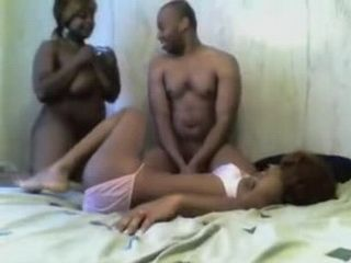 Amateur Black Teenagers Threesome  Homemade Porn Video