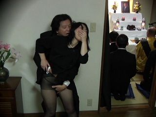 Widow In Grief Gets Fucked In the Middle Of the Funeral