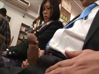 Pervert at College Library Fucks Dupable Teen