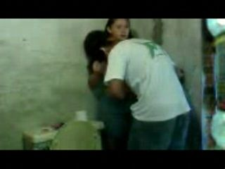 Latin Boy Jumps On His Aunt In A Toilet And Tries To Fuck Her