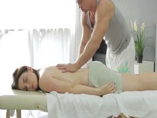 Stunning Hot Teen Gets Fucked On Massage Table At Exclusive Spa