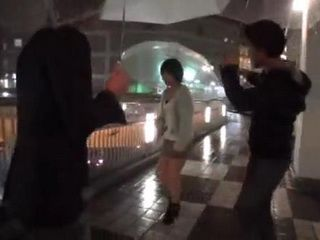 Teen Japanese Girl On The Street Gets Offered Money To Go To a Hotel Room With Two Guys  part 1