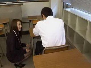 Benevolent Asian Teacher Will Do Anything To Her Student Feels Better